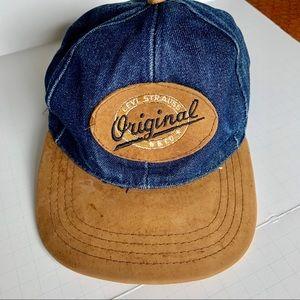 Levi's Strauss Orig Denim & Suede Leather bb cap